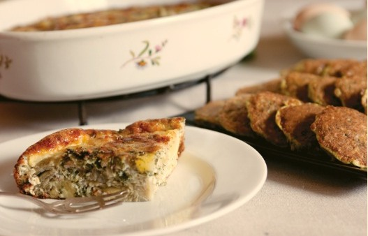 Baked Artichoke, Potato and Parsley Frittata