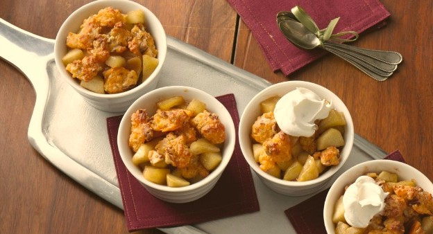 Cheddar Apple Crumble