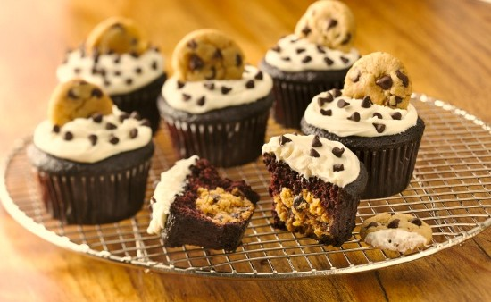 Gluten Free Chocolate Cookie Dough Cupcakes