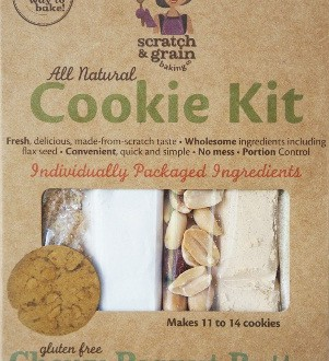 Scratch & Grain Baking Co. Gluten-Free Chewy Peanut Butter Cookie Kit
