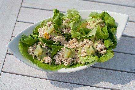 Summery Chicken Salad Wraps