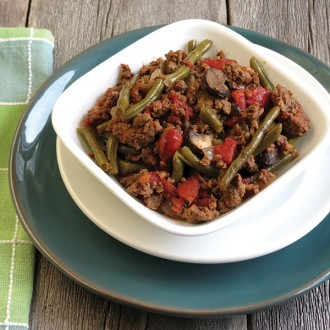 Crock-Pot™ Ground Beef and Green Beans