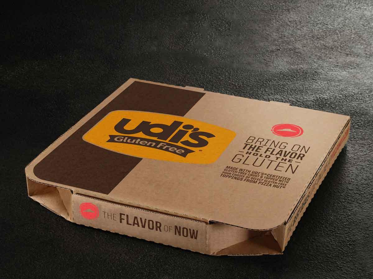 Udis Gluten Free Pizza Hut Delivery Box
