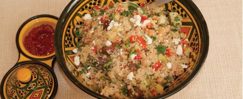 Quinoa & Chickpea Salad with Feta