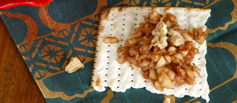 Apple Cinnamon Charoset with Candied Walnuts