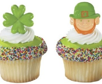 St. Patrick's Day Cupcake Toppers and Liners