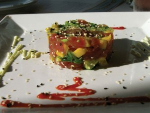 Gluten-Free Ahi Tuna Poke at E&O Asian Kitchen in San Francisco