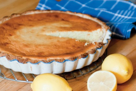 Lemon & Goat Cheese Tart