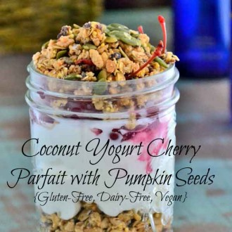 Coconut Yogurt Cherry Parfait with Pumpkin Seeds from The Healthy Apple