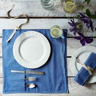 Denim Picnic Place Settings