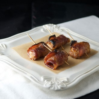 Bacon-Wrapped Chicken Bites from Gluten Free Mom