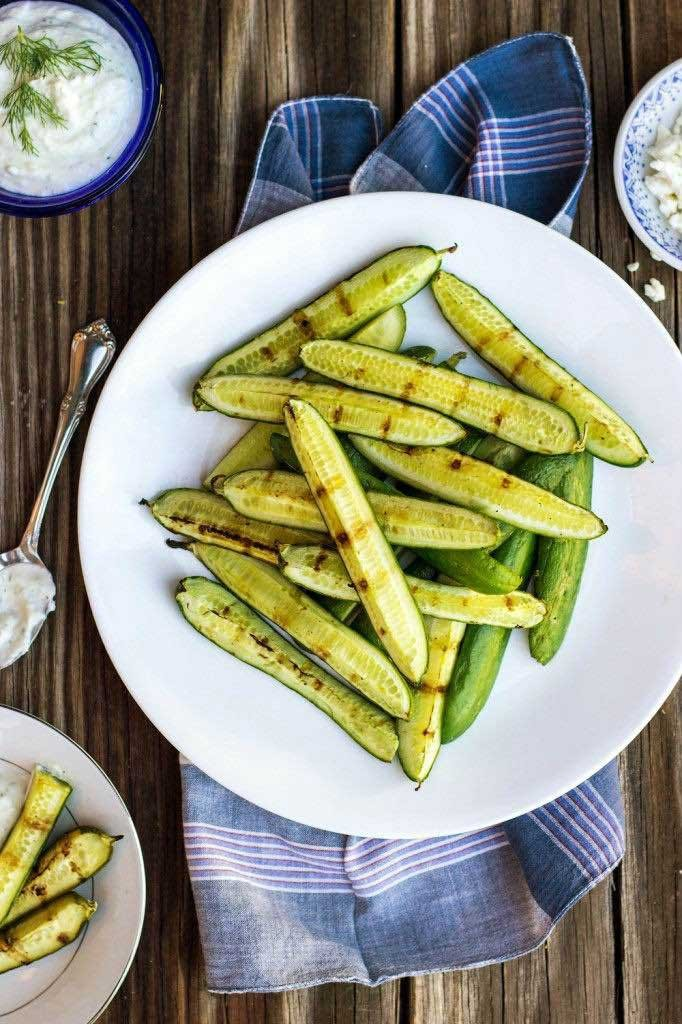 grilled-cucumbers