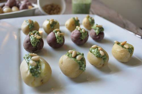 Gluten-Free Pesto Potatoes