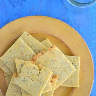 Rosemary Almond Flour Crackers from The Healthy Apple