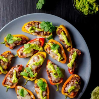 Tex Mex Sweet Pepper Poppers from She Likes Food