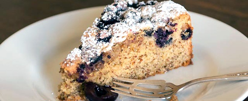 Fresh Cherry & Blueberry Cake