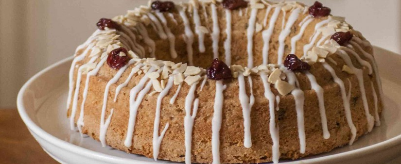 English Cherry Ring Cake