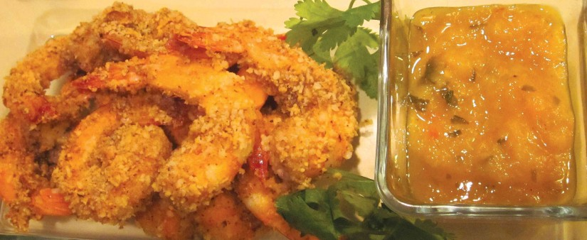 Coconut Shrimp with Spicy Mango Salsa