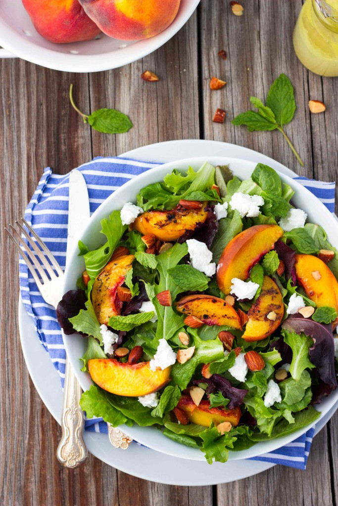 Gluten-Free Grilled Peach Salad