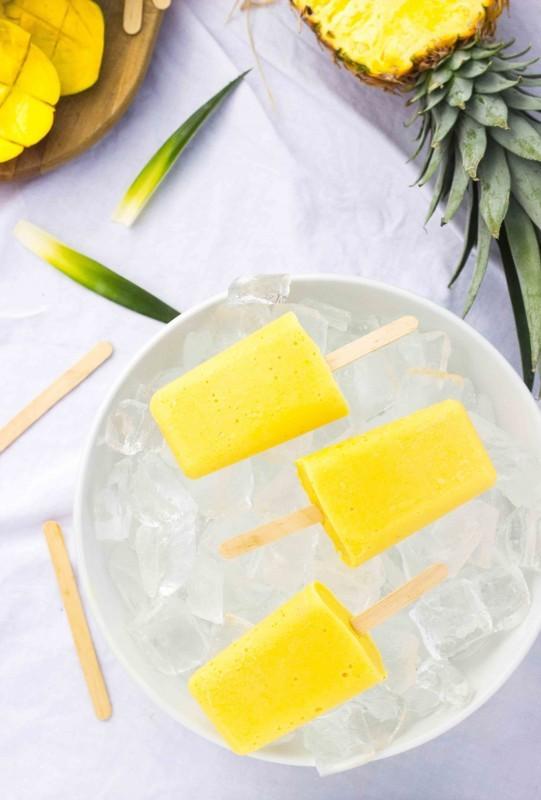 Gluten-free mango pineapple popsicles