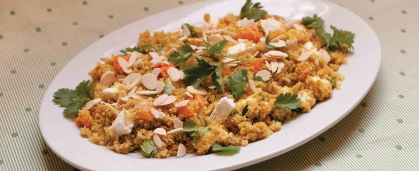 Quinoa Salad with Goat Cheese, Apricots & Cilantro