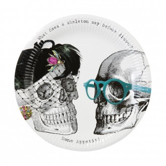 Skeleton Party Plates
