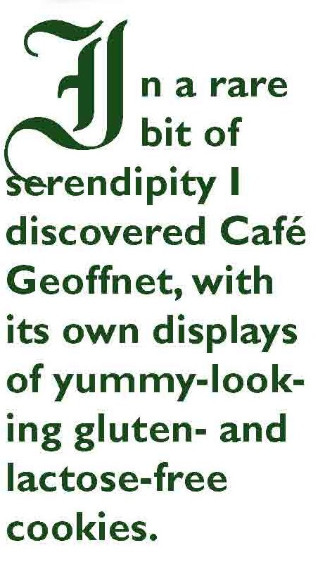 Cafe Geoffnet has gluten-free baked goods in Germany