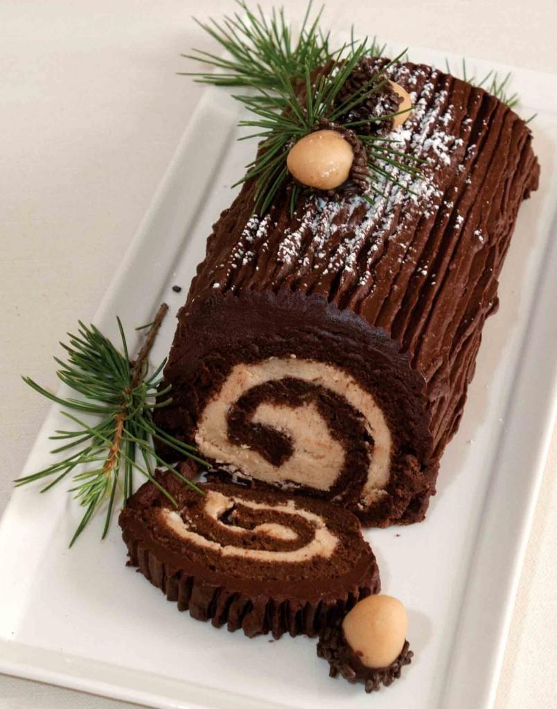 gluten-free yule log cake