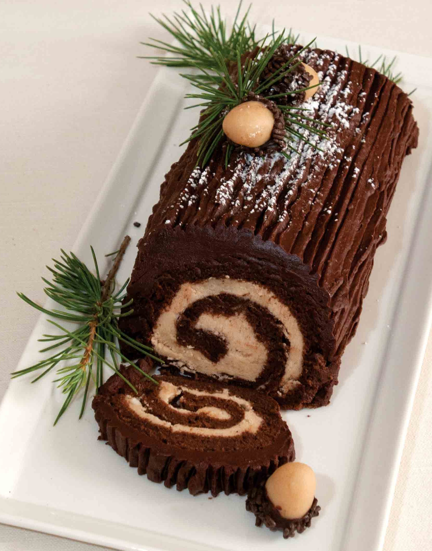 Chocolate Yule Log Cake B 251 Che De No 235 L Gluten Free Living