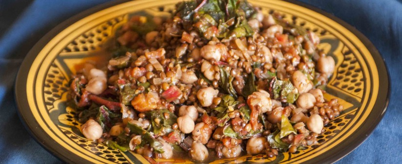 Black Lentils & Chickpeas with Chard