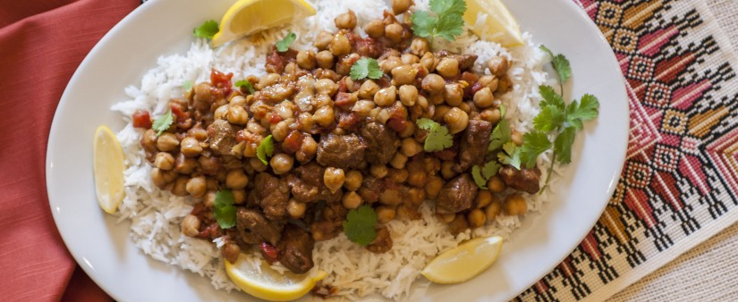 Tagine of Spiced Lamb and Chickpeas