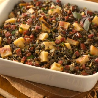 Wild Rice, Chorizo and Gluten-Free Bread Stuffing