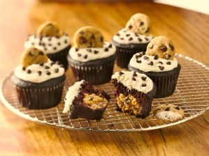 Gluten Free Chocolate Cookie Dough Cupcakes