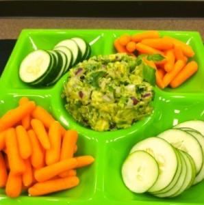 Guacamole and Veggie Tray