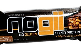 NoGii Chocolate Peanut Butter Caramel Crisp bar