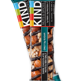 KIND Dark Chocolate Nuts and Sea Salt Bar: