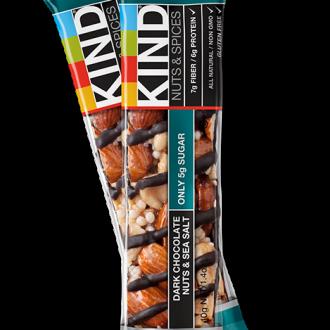 KIND Dark Chocolate Nuts and Sea Salt Bar: