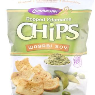 Crunchmaster Wasabi Soy Popped Edamame Chips