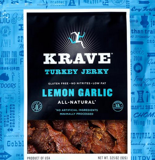 Krave Lemon Garlic Turkey Jerky