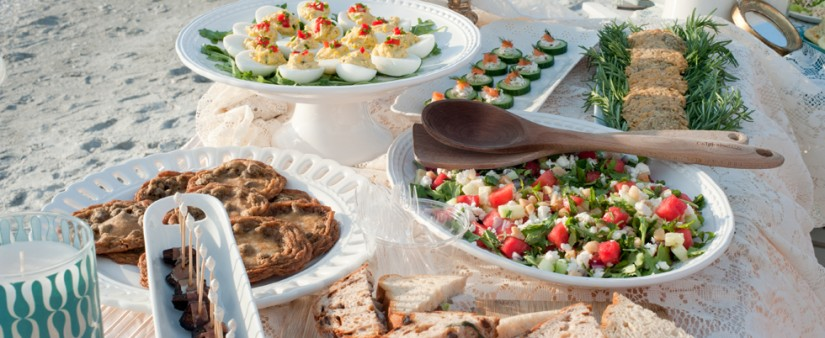Gluten-free beach party menu