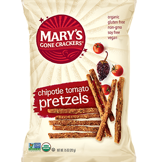Mary's Gone Crackers Chipotle Tomato Pretzels