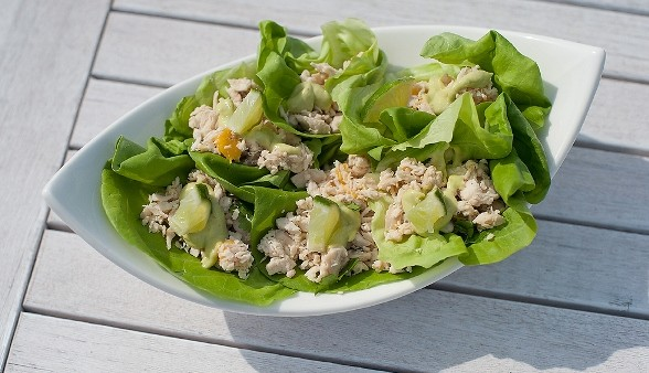 Summery Chicken Salad Wraps