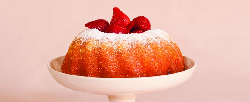 Lemon-Yogurt Bundt Cake with Fresh Berries