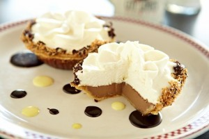 Chocolate Pudding and Toasted Coconut Pie