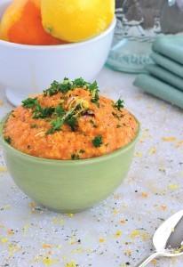 Cheesy Vegan Sweet Potato Soup