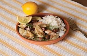 Greek-Style Chicken with Artichoke Hearts