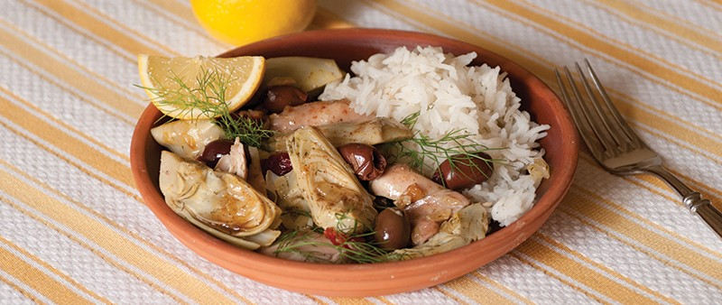 Greek-Style Chicken with Artichoke Hearts