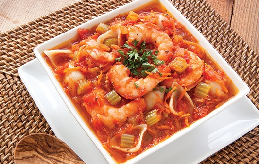 Spicy Shrimp and Pasta Shell Soup
