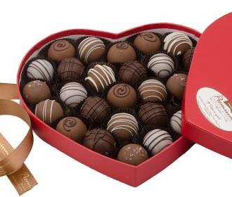 Premium Chocolatiers' Heart Truffle Box