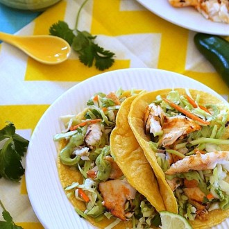 Grilled Fish Tacos from The Baking Beauties